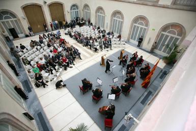Lectura pública d'en Massagran al Parlament