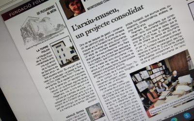 La Fundació ja té una secció fixa a la revista mensual de Palau-Solità i Plegamans